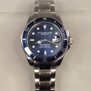 Mens Stuhrling Swiss Depthmaster Dive Watch